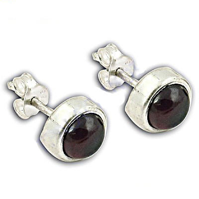New Garnet Sterling Silver Earrings