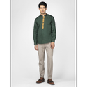 Green Hill Men''S Designer Olive Shirt
