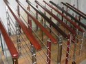 Steel with Wood Balusters