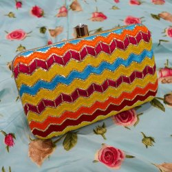 Multi Color Designer Handbag Clutches
