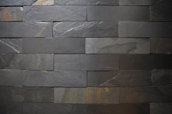PLAIN BLACK NATURAL WALL CLADDING STONE