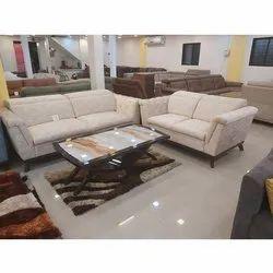Wooden ( Frame) 4 Seater Designer Sofa Set, For Home, Living Room