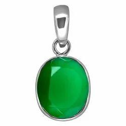 Green Onyx Pendent Silver Gemstone