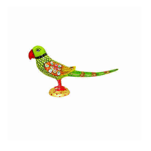 Metal Products Hand Painted Metal Parrot Manufacturer