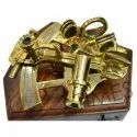 Times Creation Brass Nautical Sextant With Wooden Box