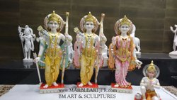 BM Art Ram Darbar Marble Statue