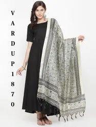 Designer digital printed khadi silk dupatta