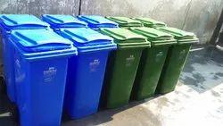 Plastic Green Wheeled Dustbins