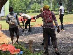 Center Line Society road construction, Delhi Ncr
