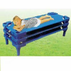 Plastic Blue Stackable Bed, Size: L130xB58xH28cm