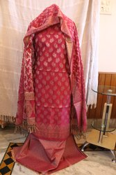 Muttiyaar selection Chanderi Ladies Silk Suit, For Available Now, Handwash