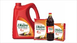Red Kachchi Ghani Dhara Mustard Oil &all products, Packaging Type: Plastic Bottle, Packaging Size: 1 litre