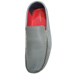 Casual Grey Leather Loafer Shoes, Size: 7 To 9