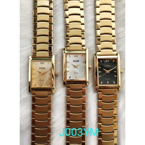 Golden Analog J003YM Mens Wrist Watch