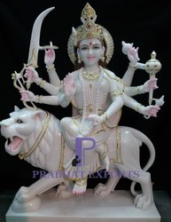 Lord Durga Marble Statue