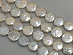 17-22 mm Coin Shape Baroque Freshwater Pearl