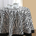 Swayan Zebra Printed Round Table Linen