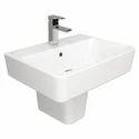 Plain White Ceramic Wash Basin