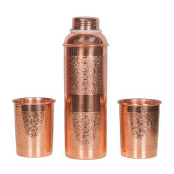 Copper Bottle Glass Gift Set