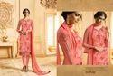 Brasso & Georgette Semi-stitched Pink Salwar Suit