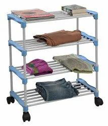 Parasnath Steel and Plastic Shoe Rack with 4 Shelves