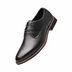 Rexine Designer Mens Black Formal Shoes