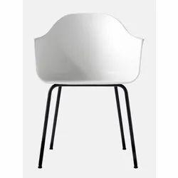 F-Studio Modern White Designer Chair, For Cafe