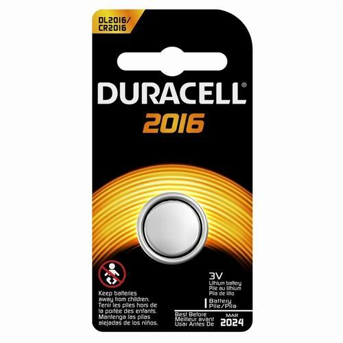 Duracell 2016 Lithium Button Coin Cell Battery 3V CR2016, 3