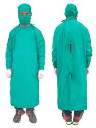 Surgeon Gown Cotton Green Casement  Mill Made Vat Dyeing Fabric