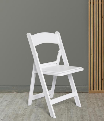 Excellent Comfold Flat Foldable Resin Cussion Chair White Evergreenethics Interior Chair Design Evergreenethicsorg