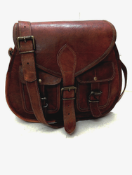 Brown Krishna handicrafts Ladies Leather Clutch