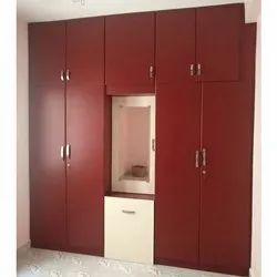 Hinged Red PVC Modular Wardrobe, for Home, Warranty: 5 Year