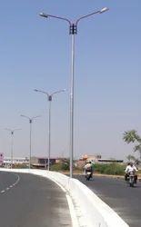 Street Double Light Pole