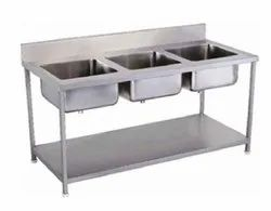 Hotel Resources Single Stainless Steel Wash Basin, For Hotel,Restaurant
