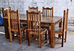 Reclaimed Wood Dining Table With Leaf Extension for Restaurant, Cafe, Resort