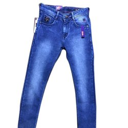 Knitted Denim Slim Fit Mens Knitted Stretch Jeans, Waist Size: 28-44 Inch