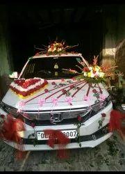 Red Wedding Car Flower Decorators