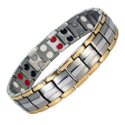 Gold & Silver Plated Bio Magnetic Bracelet