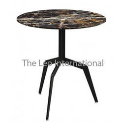 Granite Top and Metal Frame Centerpiece Table