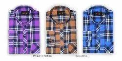 Unique Men's Cotton Checks Shirts