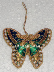 Zari Embroidery Christmas Hanging Butterfly
