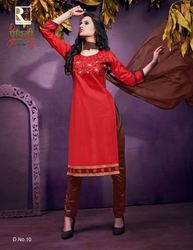 Pure Cotton Embroidery Work Dress Material