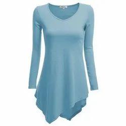49486704bf Cotton Full Sleeve Ladies Long Plain Top