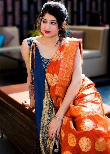 8b5837735a Silk Party Wear Saree With Blouse Piece, Saree Length: 5.5 M, Rs ...