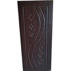 Brown Hinged Wooden Moulded Door