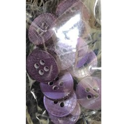 Violet Round Plastic Shirt Button, Packaging Type: Packet