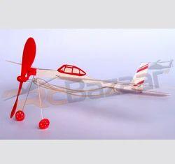 Jumbo Jet Rubber Powered Balsa Glider