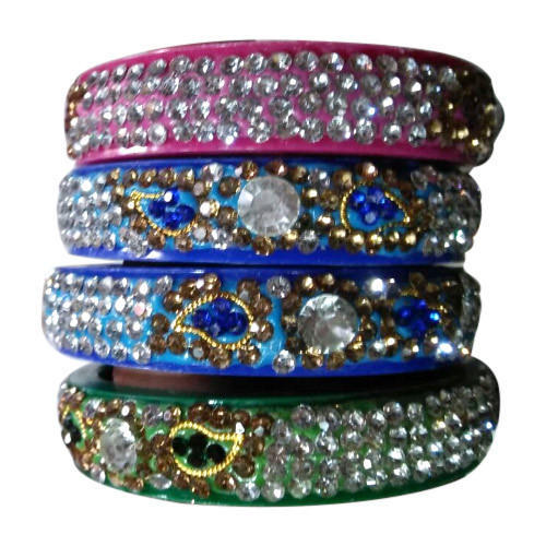 pin stone with bangle gold plated stones bangles green