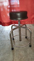Revolving Stool Full S.S with Cushion
