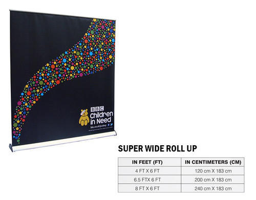 Aluminium Superwide Roll Up Standee Size 6 X 8